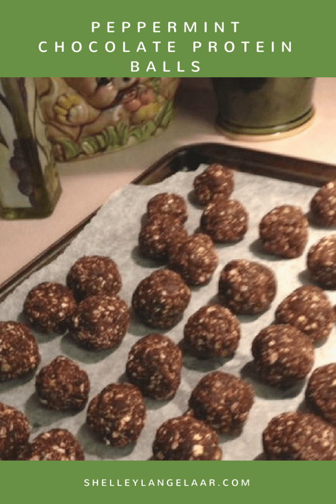Peppermint Chocolate Protein Balls