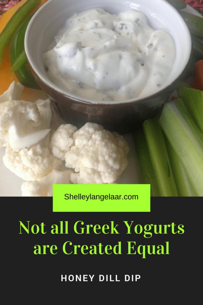 Greek yogurt honey dill dip