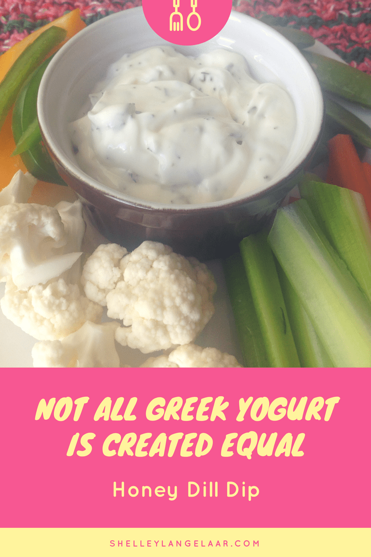 Greek yogurt honey dill dip