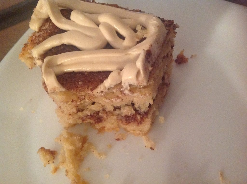 Low carb cinnamon bun cake