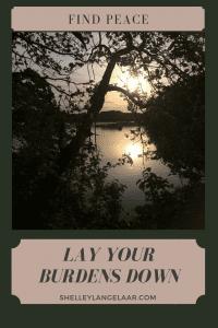 Surrender let go of your burdens