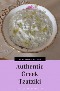 Easy authentic Greek yogurt tzatziki dip