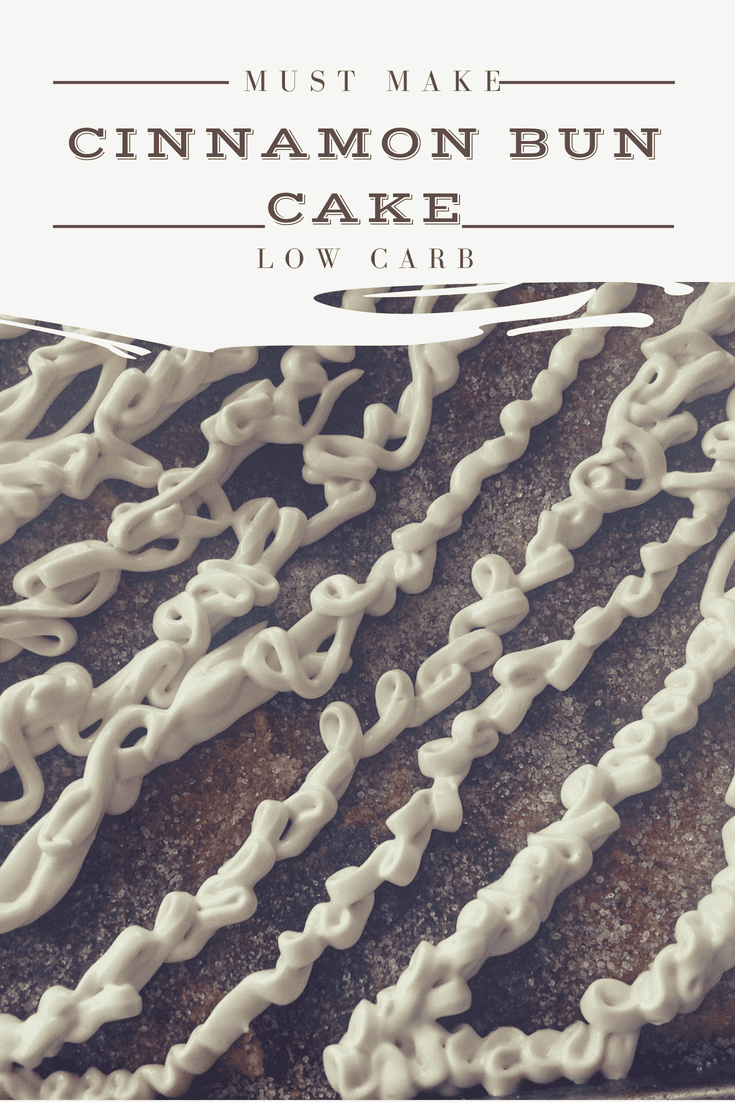 Cinnamon Bun Cake – low carb