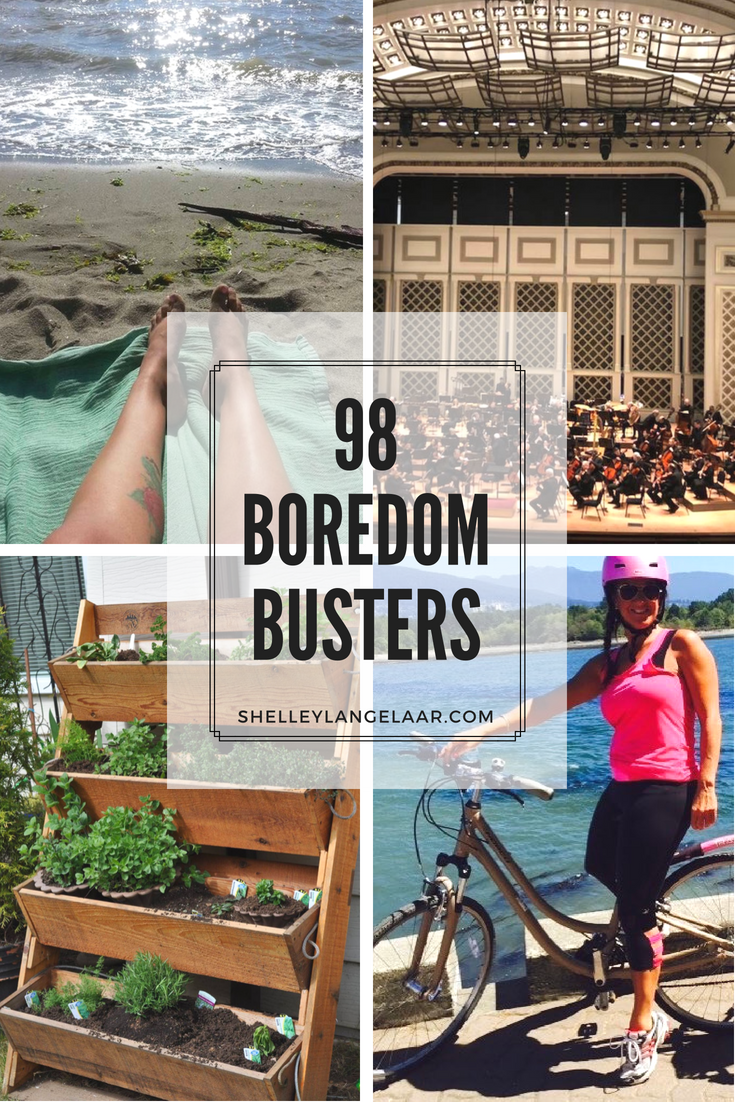 98 boredom busters - you no longer need to be bored