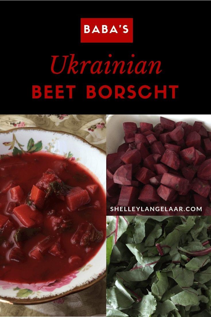 Baba's Ukrainian beet borscht soup