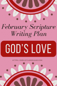 Scripture writing plan God's Love