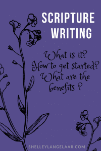 How to get started with scripture writing