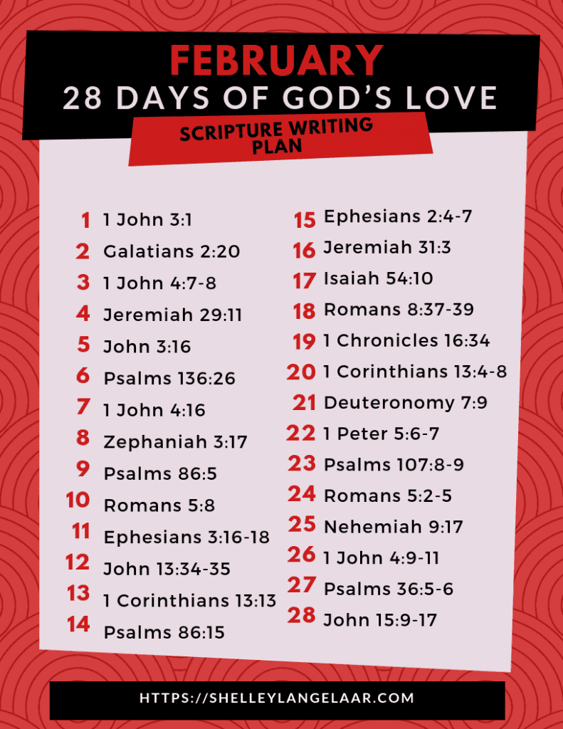 Scripture reading challenge God's Love