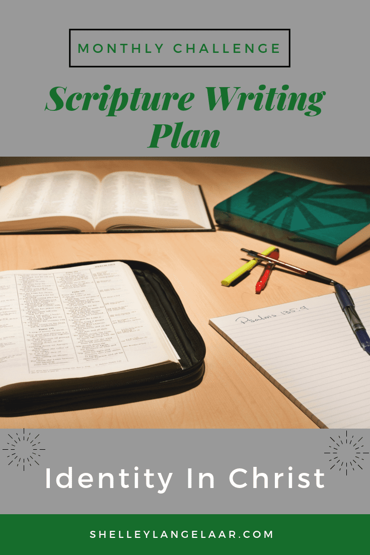 Bible writing plan identity in Christ