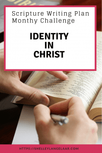 Identity in Christ bible verse writing plan