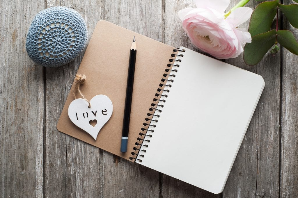 Gratitude journal for healthy thinking