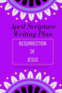 Resurrection of Jesus scripture writing challenge