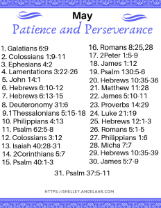 Patience and Perseverance Scripture Writing Plan