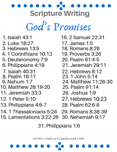 June scripture writing plan God's Promises