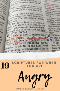 19 scriptures to help when feeling angry