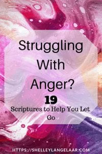 19 bible verses when struggling with anger