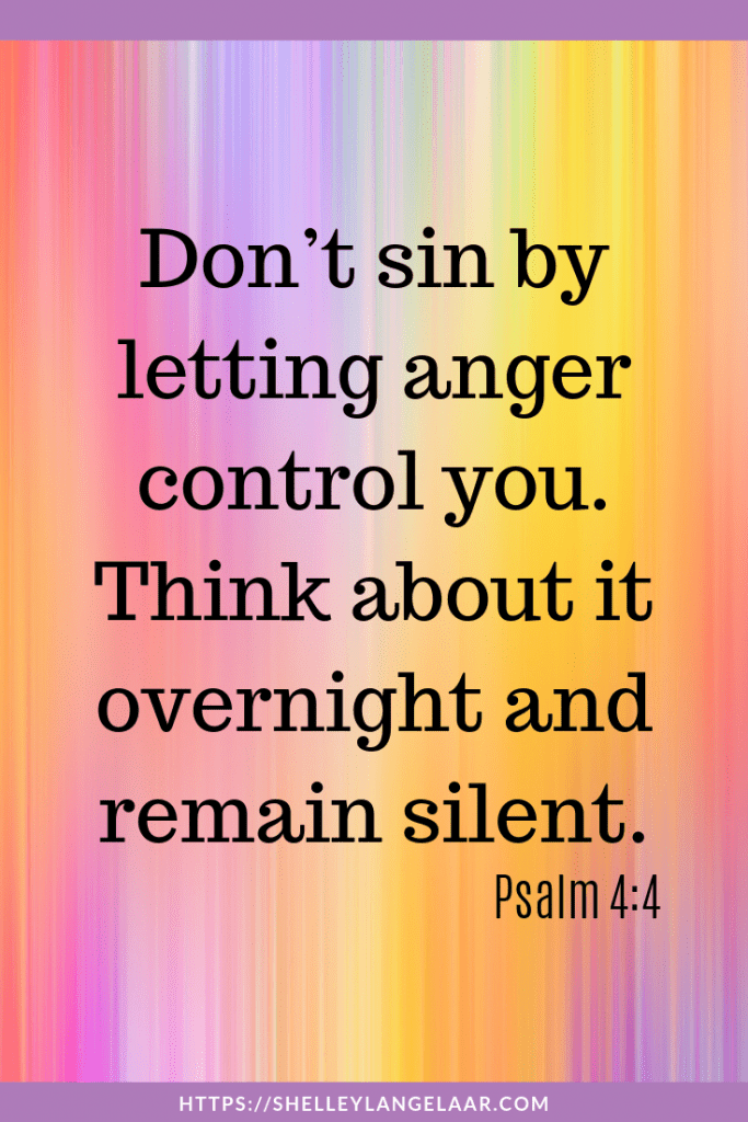 Scripture to help with anger