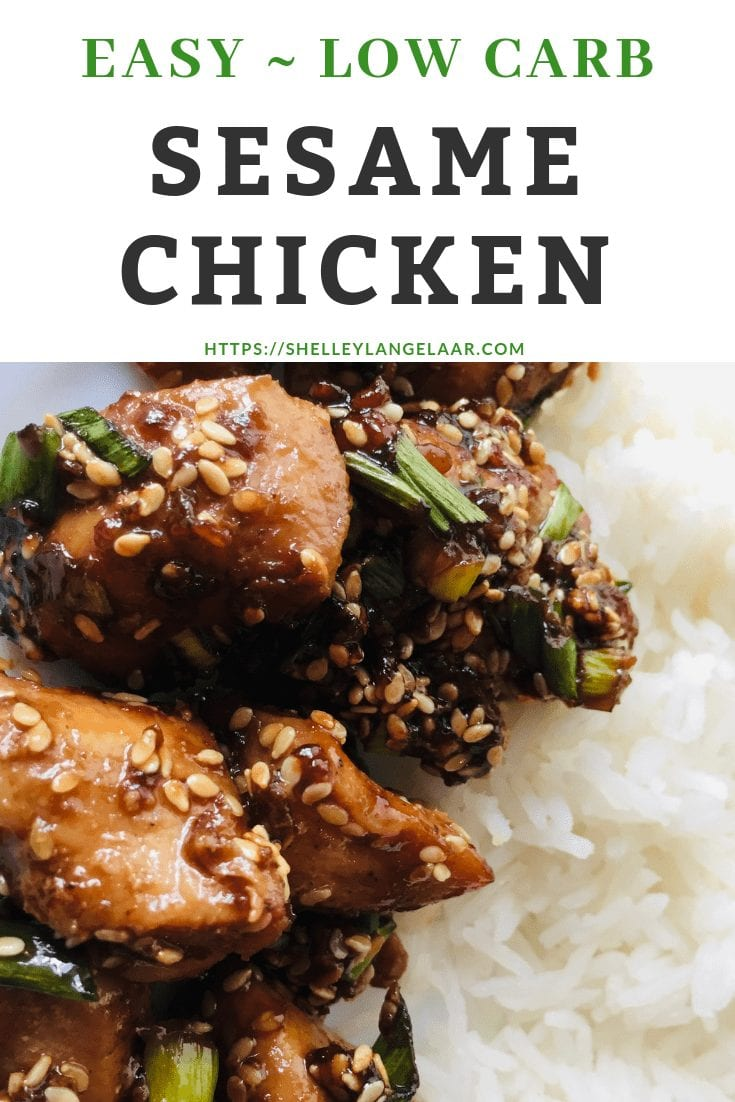 Easy Low Carb ~ Sesame Chicken
