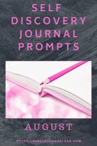 August journal prompts plan