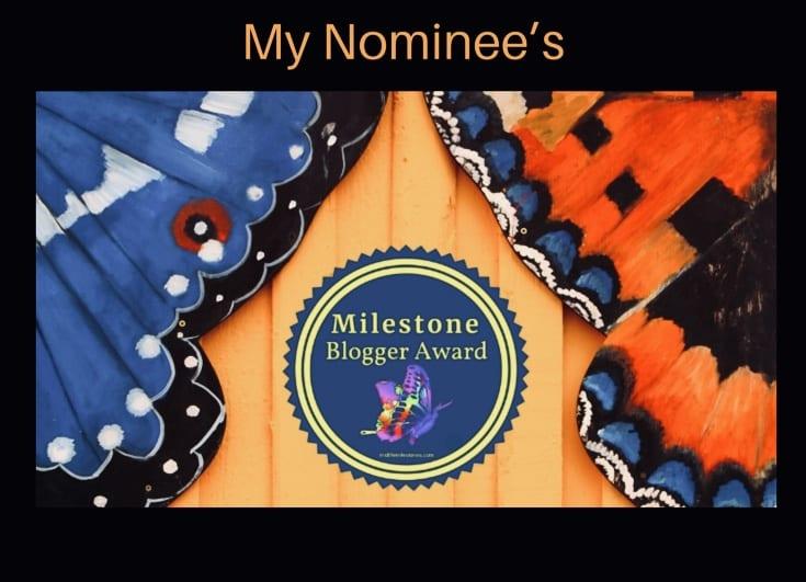 Milestone blogger award
