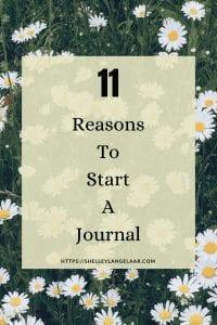 11 reasons to start journaling