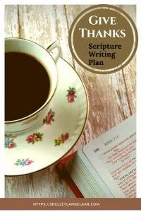 Bible Writing plan challenge give thanks