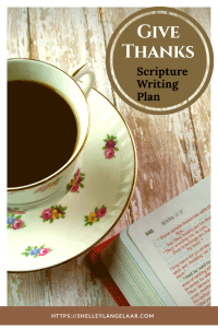 Bible Writing plan challenge give thanks