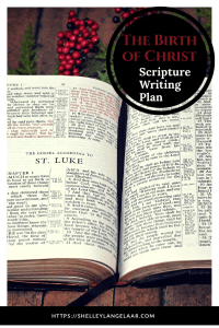 Scripture Writing plan challenge birth of Christ