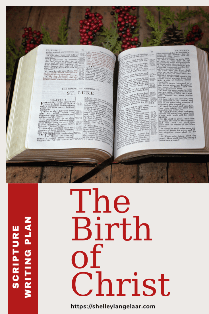 The birth of Christ script writing plan December