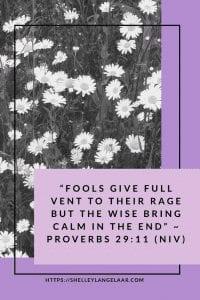 Scripture- letting go