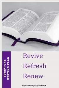Scripture Writing plan challenge January revive refresh renew